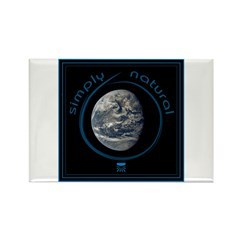 Simply Natural Earth Rectangle Magnet (10 pack)