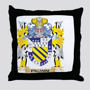 Paganini Family Crest - Coat of Arms Throw Pillow