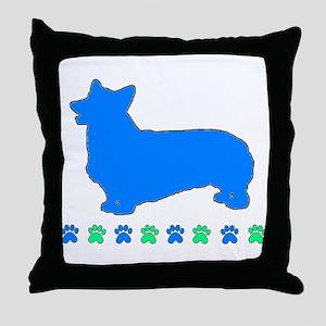 Pembroke Paws Throw Pillow