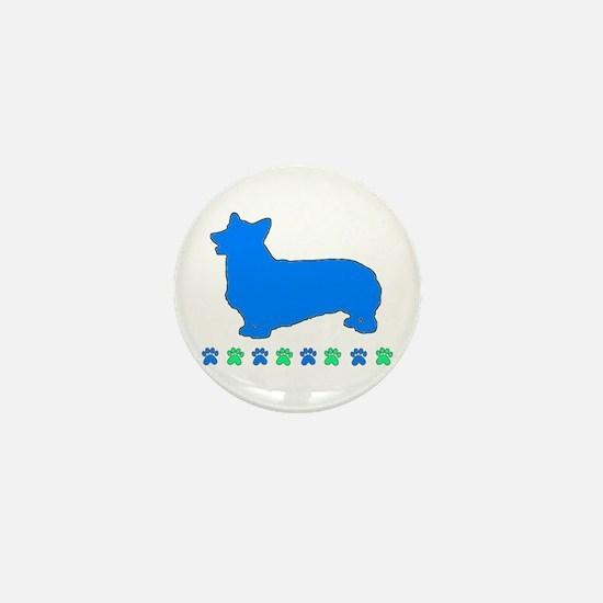 Pembroke Paws Mini Button