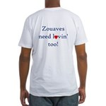 Zouaves Need Lovin' Fitted T-Shirt