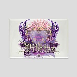 Peace Love Pilates Rectangle Magnet