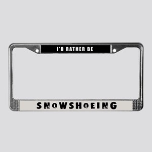 Snowshoeing License Plate Frame