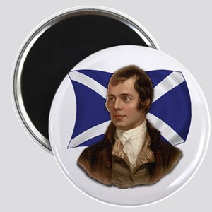 Robert Burns with Scottish Flag Magnet