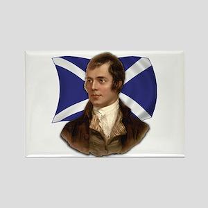 Robert Burns with Scottish Flag Rectangle Magnet