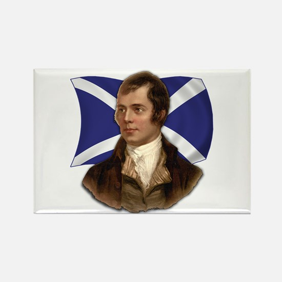 Robert Burns with Scottish Flag Rectangle Magnet