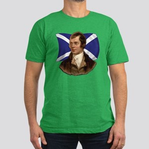 Robert Burns with Scottish Flag Men's Fitted T-Shi