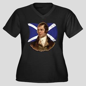 Robert Burns with Scottish Flag Women's Plus Size