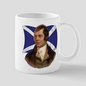Robert Burns with Scottish Flag Mug