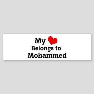 My Heart: Mohammed Bumper Sticker