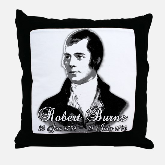 Robert Burns Commemorative Throw Pillow