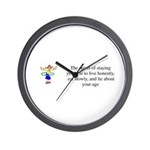 Stay Young Wall Clock