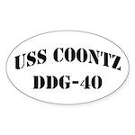 USS COONTZ Oval Sticker (10 pk)