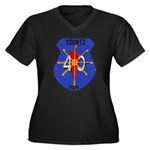 USS COONTZ Women's Plus Size V-Neck Dark T-Shirt