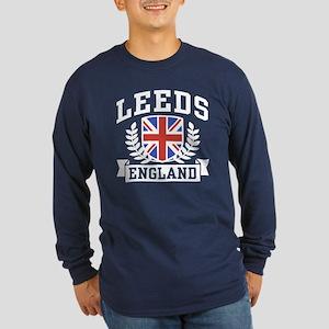 Leeds England Long Sleeve Dark T-Shirt