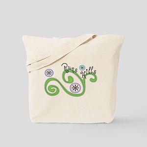 Runs Hills Tote Bag