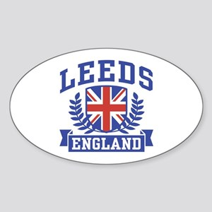 Leeds England Oval Sticker