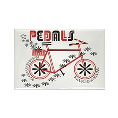 Pedals Cyclist Rectangle Magnet