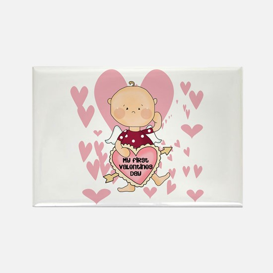 Angel Baby Valentine Rectangle Magnet (10 pack)