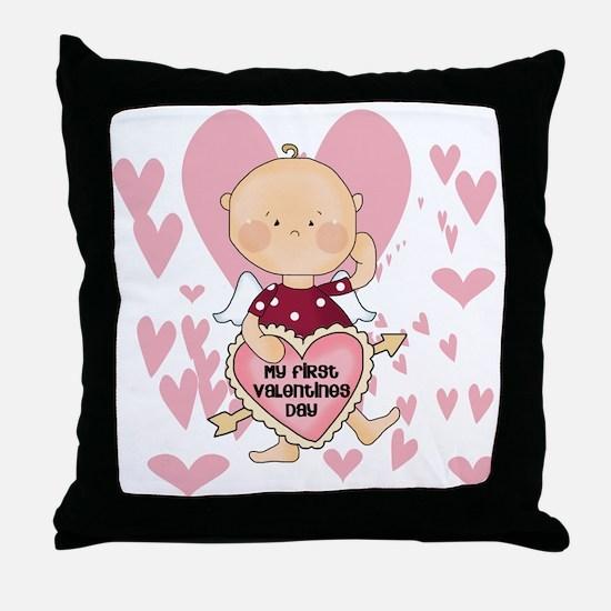 Angel Baby Valentine Throw Pillow