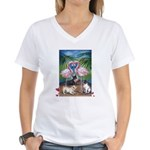 Frenchie Be Mine Women's V-Neck T-Shirt