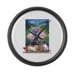 Frenchie Be Mine Large Wall Clock