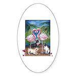 Frenchie Be Mine Oval Sticker (50 pk)
