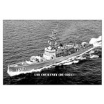 USS COURTNEY Large Poster