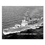 USS COURTNEY Small Poster