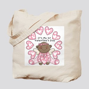 African American 1st Valentines Tote Bag