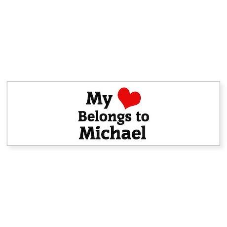My Heart: Michael Bumper Sticker