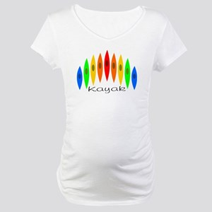 Rainbow of Kayaks Maternity T-Shirt