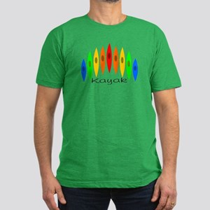 Rainbow of Kayaks Men's Fitted T-Shirt (dark)