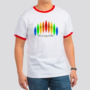 Rainbow of Kayaks Ringer T