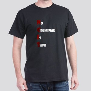 NCIS: No Criminal Is Safe in Red/White Dark T-Shir