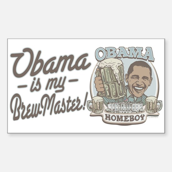 Obama Brewmaster Rectangle Decal