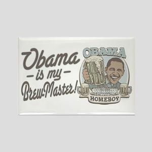 Obama Brewmaster Rectangle Magnet