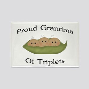 Grandma Of Triplets Rectangle Magnet