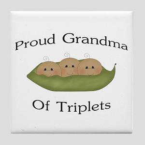 Grandma Of Triplets Tile Coaster