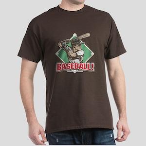 Baseball Batter Diamond Dark T-Shirt