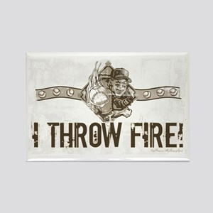 I Throw Fire Rectangle Magnet