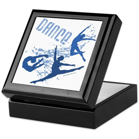 Dance (blue) Keepsake Box
