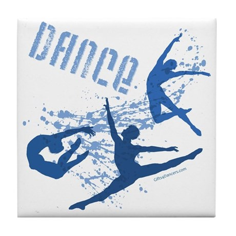 Dance (blue) Tile Coaster