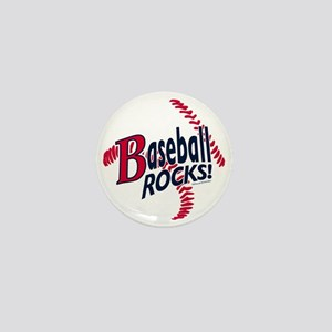 Graphic Baseball Rocks Mini Button