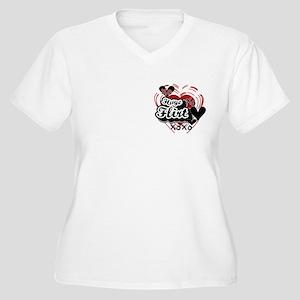 Huge Flirt Women's Plus Size V-Neck T-Shirt
