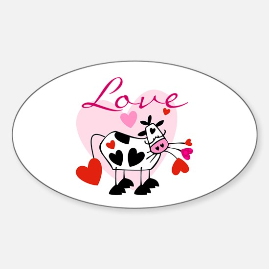 Mooey Love Oval Decal