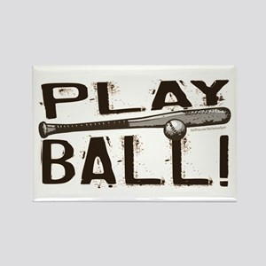 Play Ball Rectangle Magnet