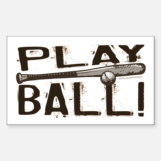 Play Ball Rectangle Decal