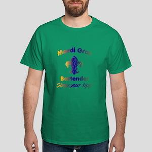 Funny Mardi Gras Bartender Dark T-Shirt