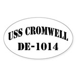 USS CROMWELL Oval Sticker (50 pk)